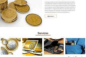 加密货币概念网站模板1214