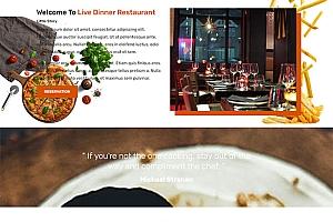 美食餐厅菜单展示网站模板1221