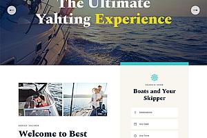 游艇轮船租赁服务公司网站模板1230