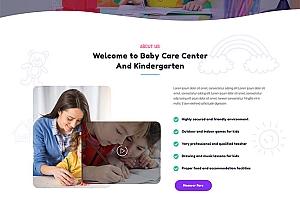 儿童早教托管机构网站模板103