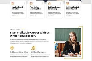 LMS课程教育网站HTML模板201