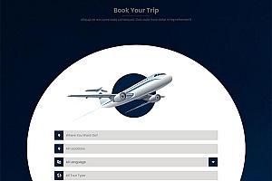 飞机航班预定网站模板220