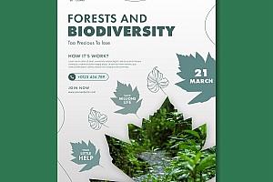 创意森林日海报模板313
