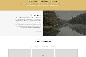 棕色风格美洲虎网站模板319