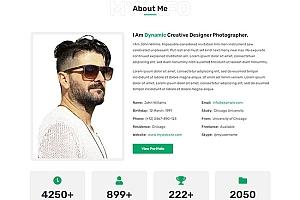 创意个人介绍主页HTML5模板328