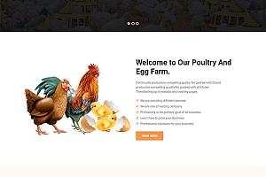 家禽养殖公司响应式模板402