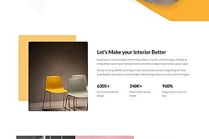 淘宝创意家具公司网站模板417