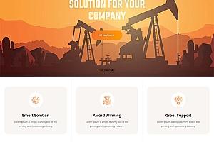 工业工厂生产企业网站模板530