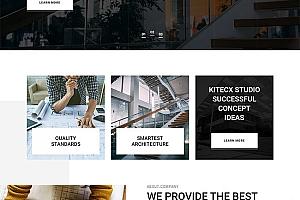 建筑设计类企业网站HTML模板618