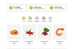 蔬菜水果生鲜超市电商网站模板619