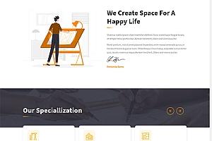 建筑设计公司官网网站模板710