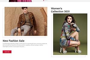 服装配饰销售商城HTML5模板
