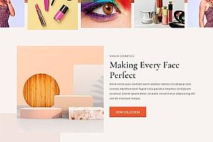美妆彩妆商品销售网站模板830