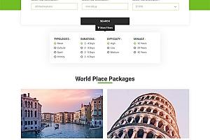 出国旅游旅行套餐展示网站模板831