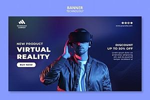 VR虚拟现实主题海报设计325